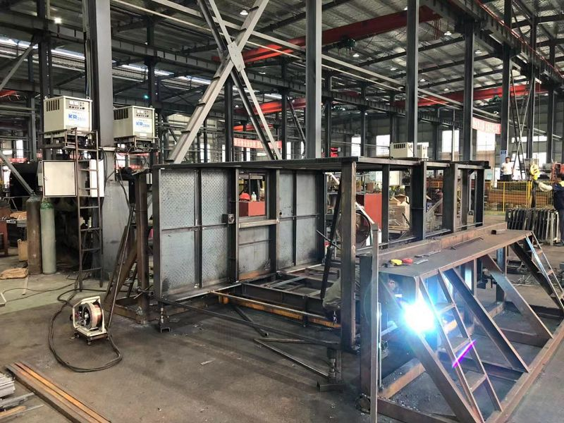 Lifting cage welding process